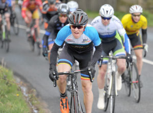 30th of April, 2016; Christopher McGlinchey, Ballymoney CC, in action during Stage 1 of the AmberGreen Energy Tour of Ulster. Moy, Co. Tyrone. Picture credit: Stephen McMahon / Tour of Ulster