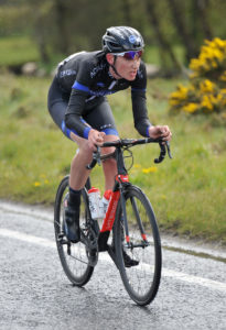 30th of April, 2016; Sean McKenna, Team Aquablue, in action during Stage 1 of the AmberGreen Energy Tour of Ulster. Picture credit: Stephen McMahon / Tour of Ulster