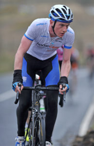 1st of May, 2016; Eoin Morton, UCD FitzCycles, on the ascent of the category one climb of Spelga Dam during Stage 2 of the AmberGreen Energy Tour of Ulster. Moy, Co. Tyrone. Picture credit: Stephen McMahon / Tour of Ulster