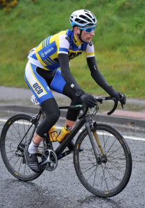 1st of May, 2016; Ian Richardson, UCD FitzCycles, in action during Stage 2 of the AmberGreen Energy Tour of Ulster. Moy, Co. Tyrone. Picture credit: Stephen McMahon / Tour of Ulster