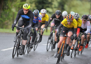 1st of May, 2016; Bryan McCrystal, Asea Wheelworx, left, and Lindsay Watson, Banbridge Cycling Club, right, lead the breakaway during Stage 2 of the AmberGreen Energy Tour of Ulster. Moy, Co. Tyrone. Picture credit: Stephen McMahon / Tour of Ulster