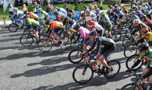 2nd of May, 2016; A general view of the peloton as the riders roll out to start Stage 3 of the AmberGreen Energy Tour of Ulster. Moy, Co. Tyrone. Picture credit: Stephen McMahon / Tour of Ulster