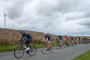 29th of April, 2017; Robert McCarthy, Team Monaghan, leads the peloton during Stage 1 of the AmberGreen Energy Tour of Ulster. Moy, Co. Tyrone. Picture credit: Stephen McMahon / Tour of Ulster