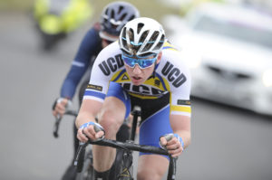 30th of April, 2017; Eoin Morton, UCD Cycling Club, in action during Stage 2 of the AmberGreen Energy Tour of Ulster. Moy, Co. Tyrone. Picture credit: Stephen McMahon / Tour of Ulster