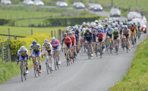1st of May, 2017; A general view of the peloton during Stage 3 of the AmberGreen Energy Tour of Ulster. Moy, Co. Tyrone. Picture credit: Stephen McMahon / Tour of Ulster