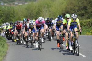 1st of May, 2017; A general view of the action during Stage 3 of the AmberGreen Energy Tour of Ulster. Moy, Co. Tyrone. Picture credit: Stephen McMahon / Tour of Ulster