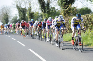 1st of May, 2017; UCD Cycling Club set the tempo at the head of the peloton during Stage 3 of the AmberGreen Energy Tour of Ulster. Moy, Co. Tyrone. Picture credit: Stephen McMahon / Tour of Ulster
