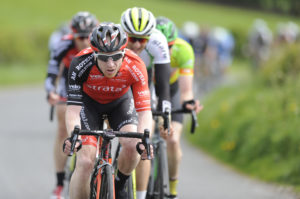 1st of May, 2017; Michael Fitzgerald, Strata3-Velorevolution Cycling Team, in action during Stage 3 of the AmberGreen Energy Tour of Ulster. Moy, Co. Tyrone. Picture credit: Stephen McMahon / Tour of Ulster